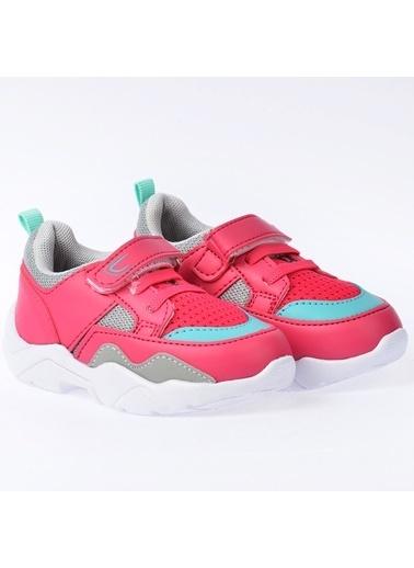 Kiko Kids Kiko S19 Günlük Fileli Cırtlı Kız/Erkek Çocuk Spor Ayakkabı Fuşya